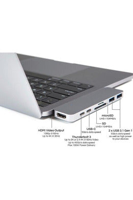 HyperDrive DUO 7-in-2 Hub for USB-C MacBook Pro/Air - Space Gray (GN28B)
