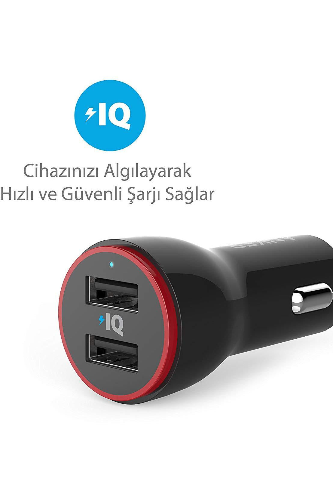 Anker Power Drive 2 -USB Car Charger Black (A2310H11) - www.emarketkw.com