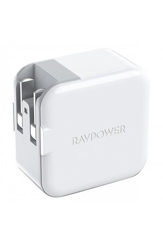 RAVPower / Wall Charger / 18W Dual Port AC Plug PD QC3.0 UK-White (RP-PC110) - www.emarketkw.com
