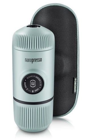 WACACO Nanopresso Elements Portable Coffee Machine+Carrying Bag+NS Adapter - Arctic Blue - www.emarketkw.com