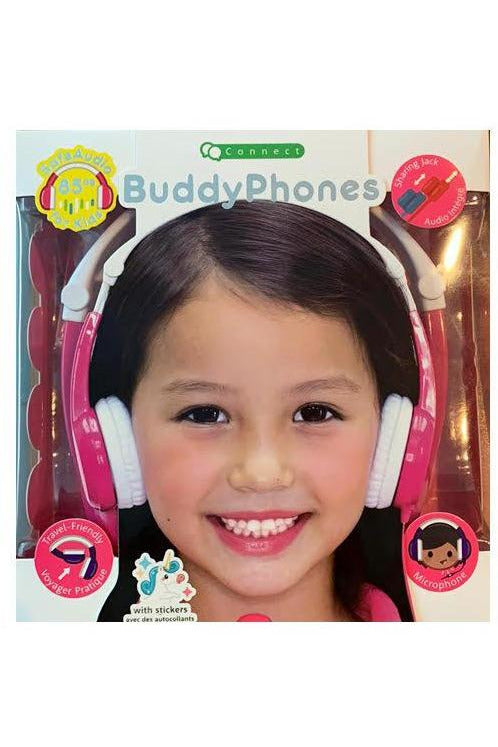 Buddyphones Connect On-Ear Wired Headphones - PINK (BP-CO-PINK-01-K) - www.emarketkw.com