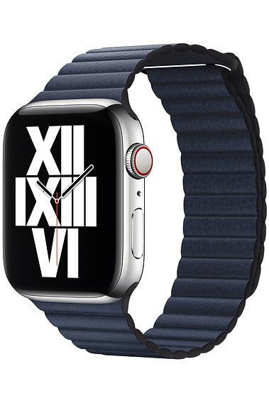 Apple 44mm Diver Blue Leather Loop - Large