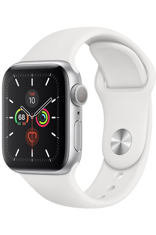 Apple Watch Series 5 GPS+CELLULAR Silver Aluminum Case 44MM with Sport Band - MWWC2AE/A - www.emarketkw.com