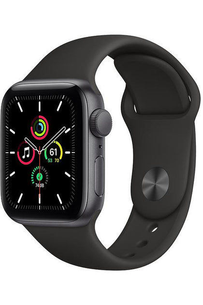 Apple Watch SE 40mm Space Gray Aluminum Case with Black Sport Band - Gps Only