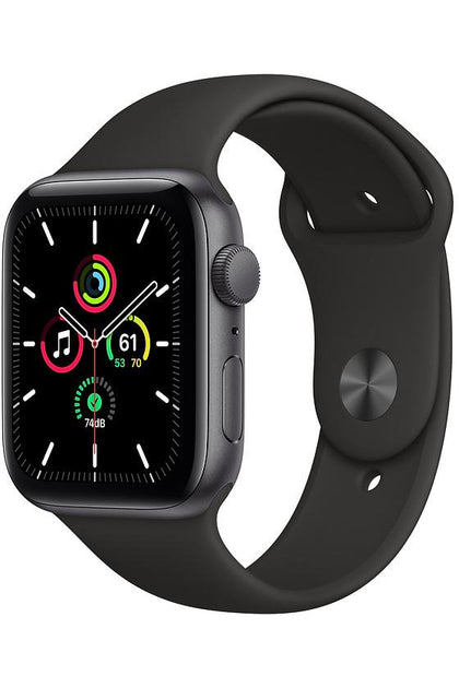 Apple Watch SE 44mm Space Gray Aluminum Case with Black Sport Band - Gps Only