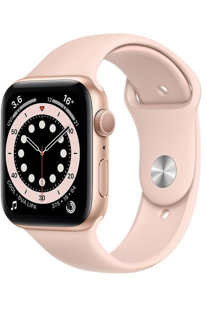 Apple Watch Series 6 44mm Gold Aluminum  Case with Pink Sand Sport Band - Gps Only