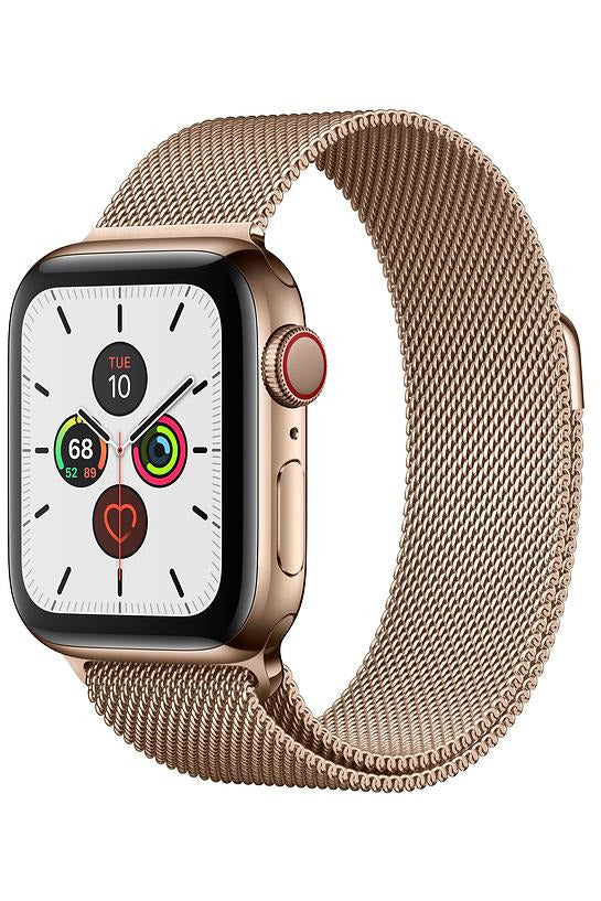 Apple Watch Series 5 44MM Gold Stainless Steel Case with Milanese Loop - GPS+CELLULAR