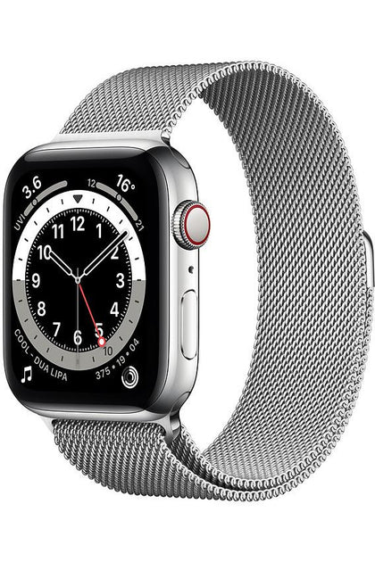 Apple Watch Series 6 44mm Silver Stainless Steel With Silver Milanese Loop - GPS+Cellular