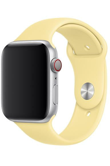 Apple 44mm Lemon Cream Sport Band Strap For Apple Watch - Regular (MWUX2FE/A) - www.emarketkw.com