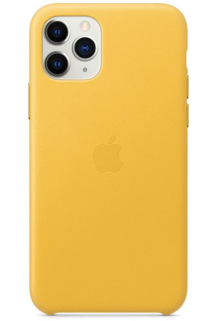 iPhone 11 Pro Leather Case Meyer Lemon MWYA2FE/A - www.emarketkw.com