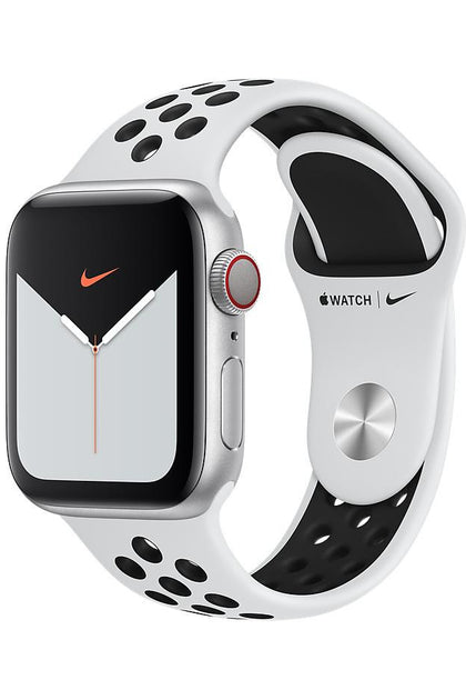 40MM Pure Platinum/Black Nike Sport Band for Apple watch - Regular