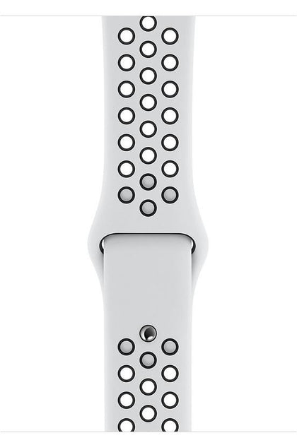 40MM Pure Platinum/Black Nike Sport Band for Apple - Regular