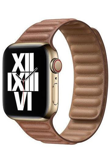 Apple 40mm Saddle Brown Leather Link - S/M
