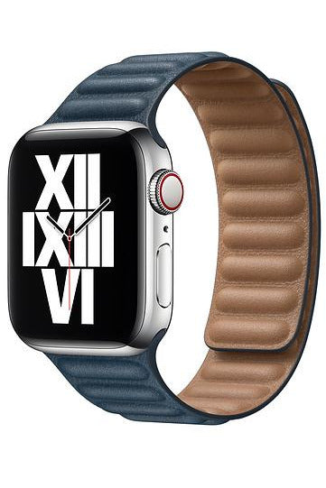 Apple 40mm Baltic Blue Leather Link - M/L