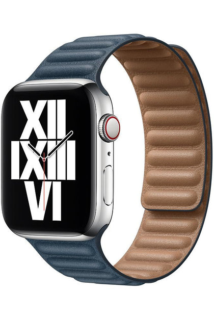 Apple 44mm Baltic Blue Leather Link - M/L