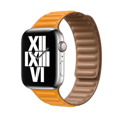 Apple 44mm California Poppy Leather Link - M/L