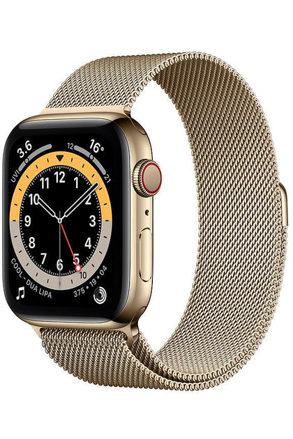 Apple Watch Series 6 44MM Gold Stainless Steel Case with Gold Milanese Loop - GPS + Cellular