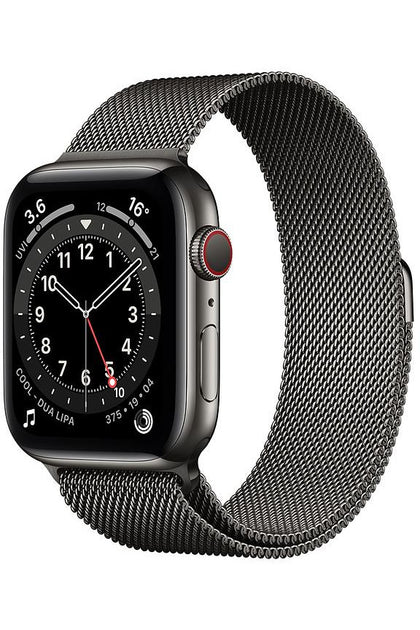 Apple Watch Series 6 44mm Graphite Stainless Steel Case With Graphite Milanese Loop - GPS+Cellular