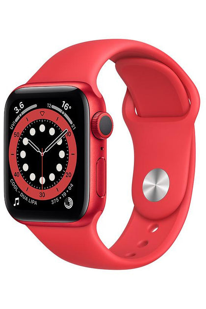 Apple Watch Series 6 44mm Red Aluminum Case with Red Sport Band - GPS+Cellular
