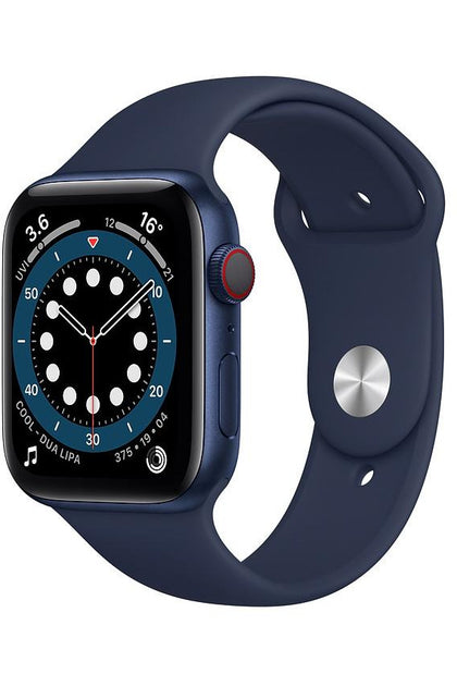 Apple Watch Series 6 44MM Blue Aluminum Case with Sport Band Deep Navy - GPS+Cellular
