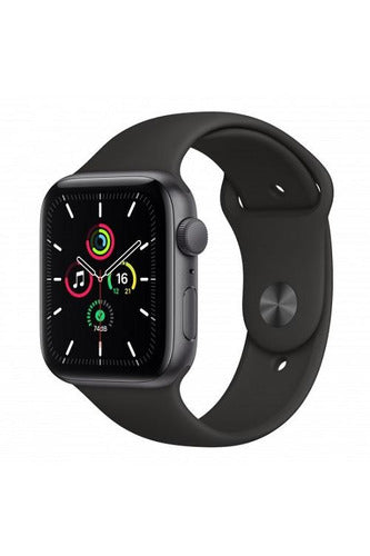 Apple Watch SE GPS + Cellular, 40mm Space Gray Aluminum  Case with Black Sport Band - Regular