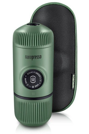 WACACO Nanopresso Elements Portable Coffee Machine+Carrying Bag+NS Adapter - Moss Green