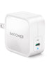 RAVPower GaN PD Pioneer 61W Wall Charger UK  - White