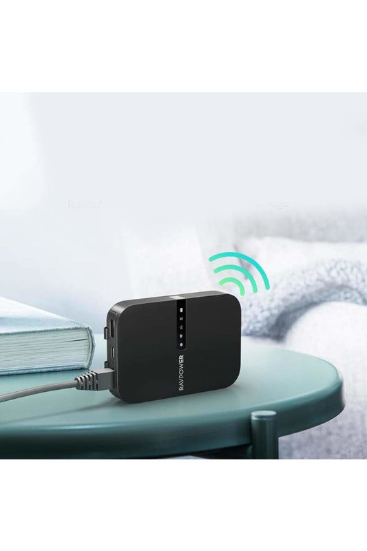 RAVPower / Filehub / Wireless Travel Router and External Battery 6700mAh iSmart-Black (RP-WD009) - www.emarketkw.com