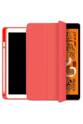 JCPAL Dura Pro Ultra Thin Case With Pencil Holder 10.2inch . Red (Jcp5292) - www.emarketkw.com