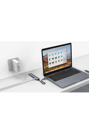 HyperDrive BAR 6-in-1 USB-C Hub for iPad Pro, MacBook Pro/Air - Gray