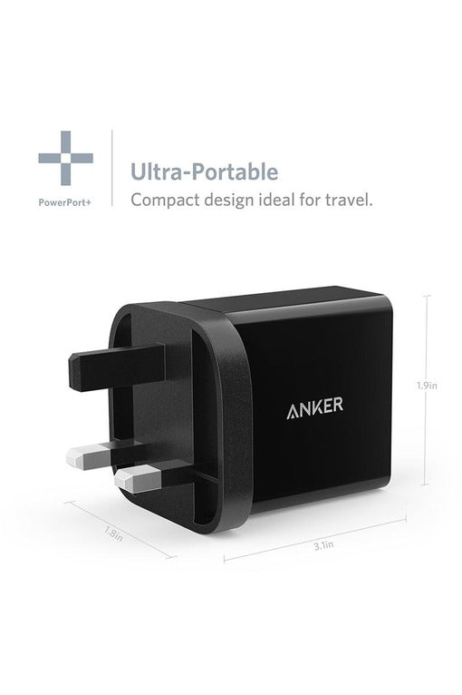 Anker PowerPort+ 1 with Quick Charge 3.0 Premium USB Wall Charger - Black (ANK-A2013-BK) - www.emarketkw.com