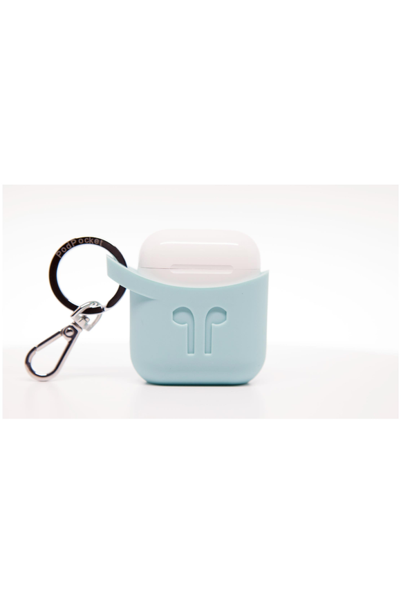 PodPocket Silicone Case for AirPod - Aqua Blue