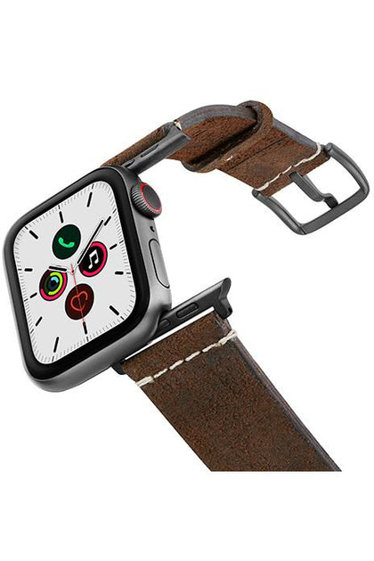 Meridio Heritage - Cottage Chocolate Leather Strap 44mm