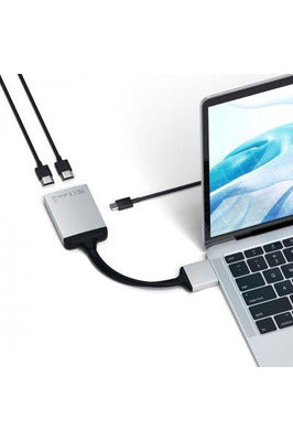 Satechi USB-C Dual HDMI Adapter (Space Gray) (ST-TCDHAM) - www.emarketkw.com