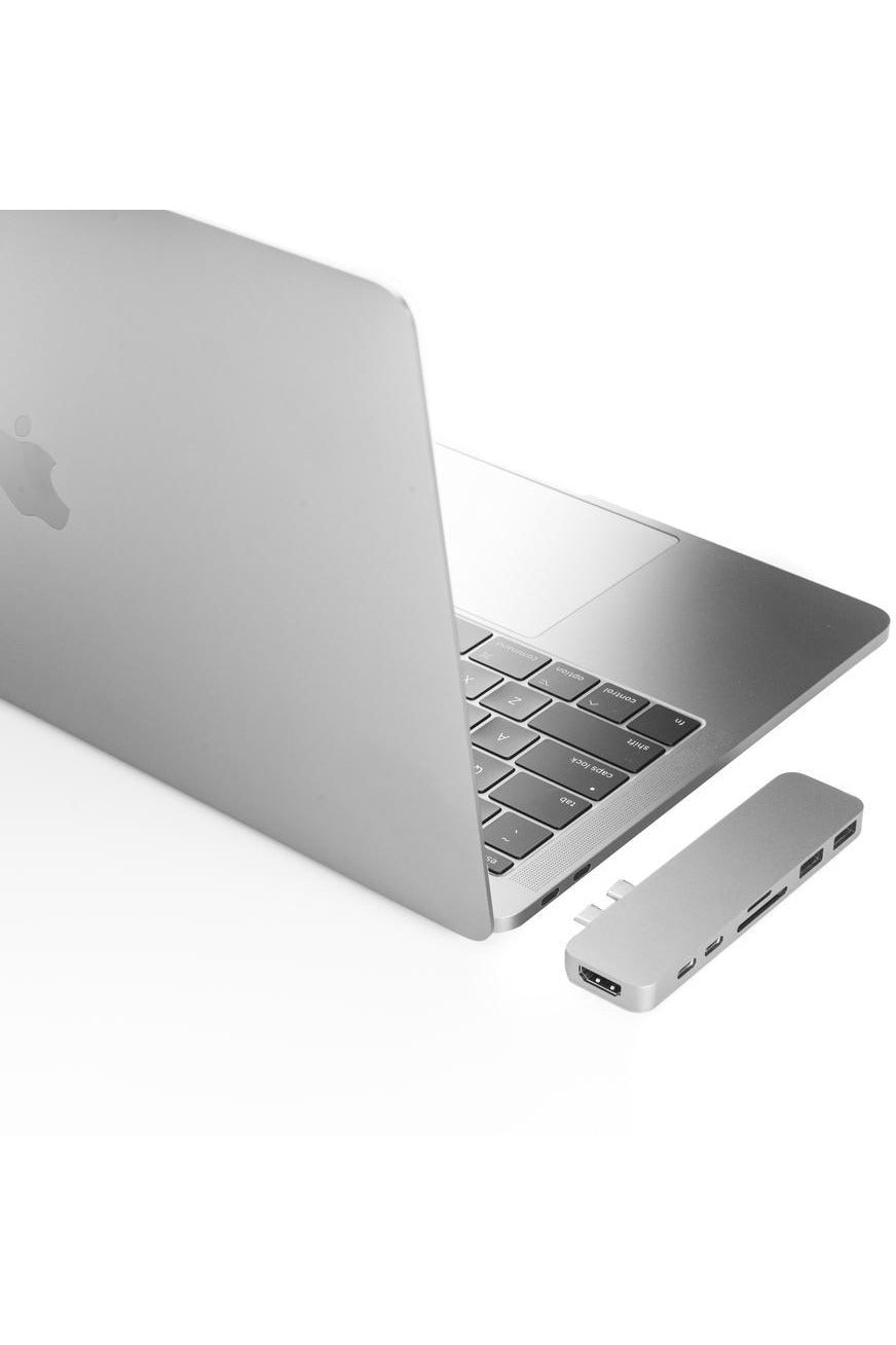 HyperDrive DUO 7-in-2 Hub for USB-C MacBook Pro/Air - Space Gray (GN28B) - www.emarketkw.com
