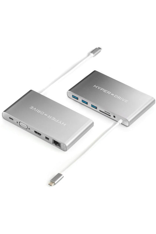 HyperDrive Ultimate 11-in-1 USB-C Hub for Mac, PC, Android, USB-C Devices - Space Gray (GN30) - www.emarketkw.com