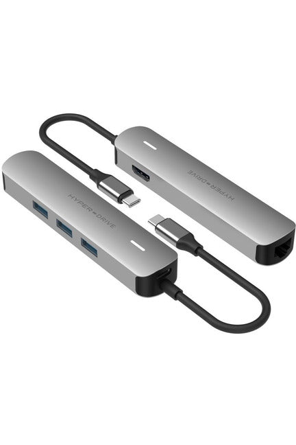 HyperDrive 6in1 USB-C Hub with 4K HDMI Output  - Gray (HD233B) - www.emarketkw.com
