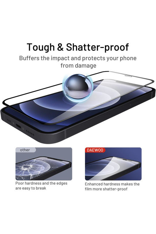DAEWOO Termpered Glass Screen Protector for 6.1 inch iPhone 12 / 12 Pro
