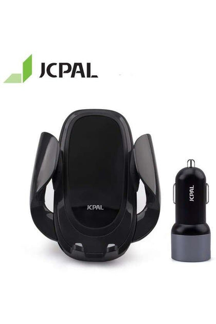 JCPAL Wireless Car Charging Kit with Double Port 30W Car Charger QC3.0 10W/7.5W Wireless Charging and Secure Mount (jcp6164) - www.emarketkw.com