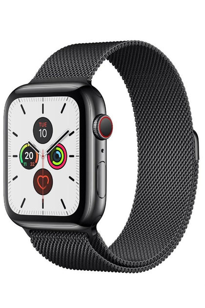 Apple Watch Series 5 (GPS+CELLULAR) 44MM Space Black Stainless Steel Case with Milanese Loop