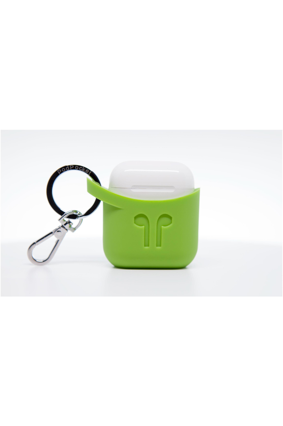 PodPocket Silicone Case for AirPod - Pear Green