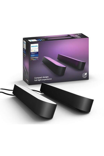 Philips Hue Play Light Bar Double Pack, White and Color Ambiance - Black ( 7820230P7) - www.emarketkw.com