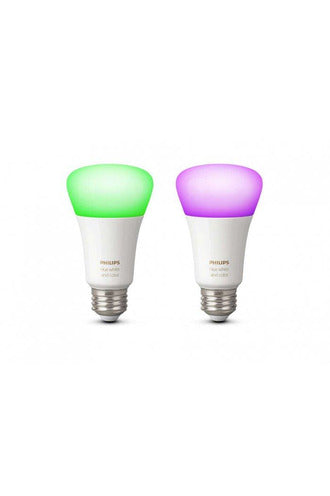Philips Hue 2x Single Bulb E27 White and Color Ambiance (929001257363) - www.emarketkw.com