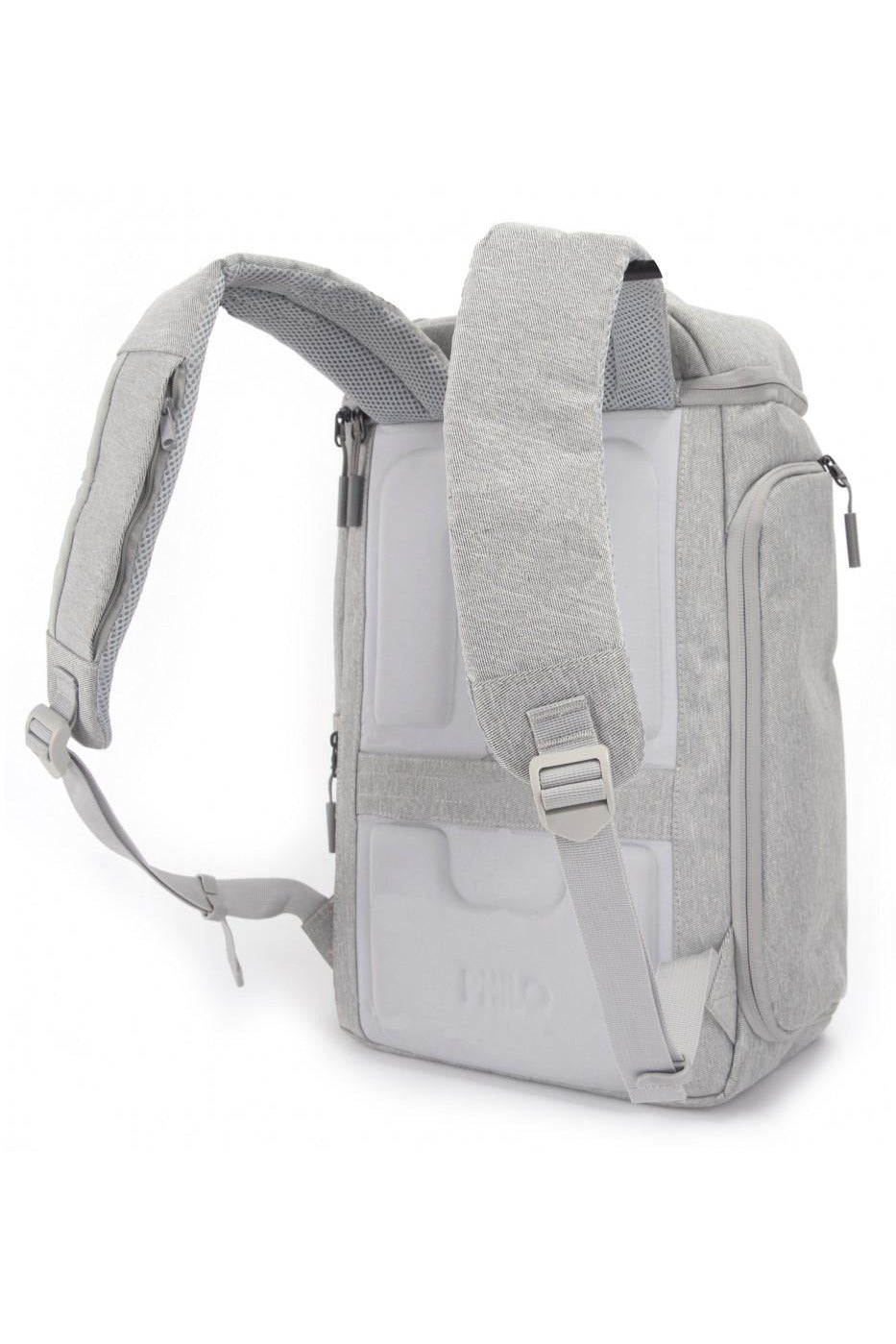 Philo Smart Backpack for 15-InchLaptop, Integrated USB Charging Port - Light Grey