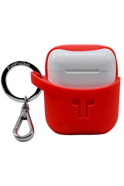 Pod Pocket Secure Scoop Case Airpod 1,2 -Blazing Red