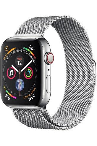 Apple Watch Series 4-40 mm Stainless Steel Case With Stainless Milanese Loop (GPS + Cellular)