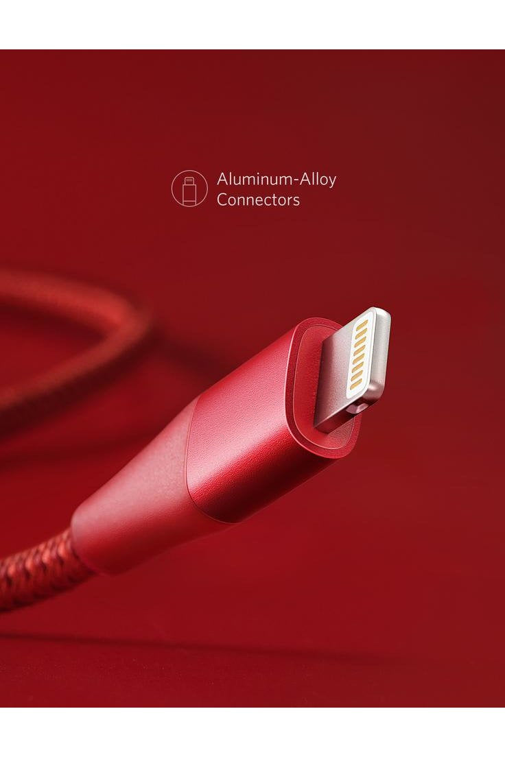 Anker PowerLine+ II Lightning Cable 1.8m/6ft - Red - www.emarketkw.com