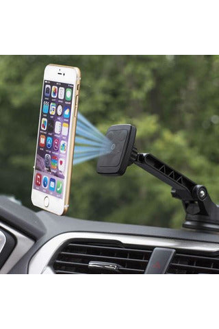WizGear Magnetic Car Mount with Long Arm - Black (DB-Long-118)