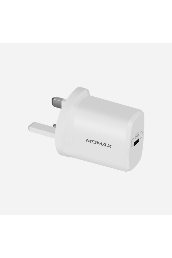 Momax - 1- Plug USB fast charger (QC 3.0 18W UK plug - White (UM10UKW)