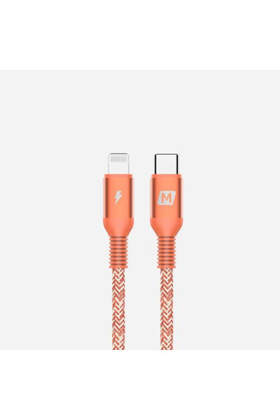 Momax Elite Link Lightning to Type-C Cable (1.2M) Coral Red (DL31M) - www.emarketkw.com